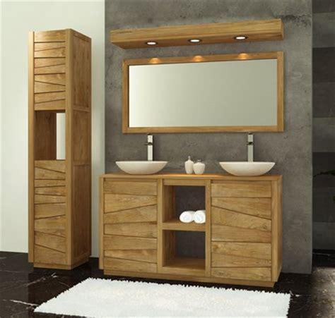 meuble salle de bain ce meuble bas de salle de bain en teck sobre et 233 l 233 gant de la collection groovy jalousera vos