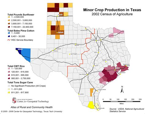 texas crops map agriculture maps