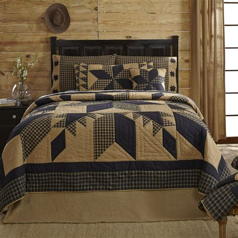 country bed sets country and primitive bedding quilts dakota star bedding by vhc brands country
