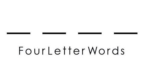 4 Letter Finance Words The Four Letter Word That Should Be In Every Networkers Vocabulary