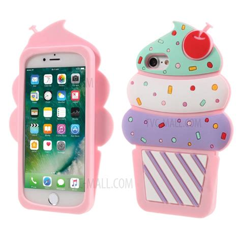 Iphone 7 3d Bag Moschino Tali Rantai Soft Silicon Az34 3d cherry silicone back shell for iphone 7