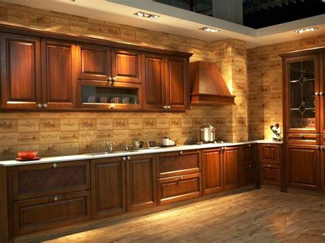 2017 free design customize american solid wood kitchen