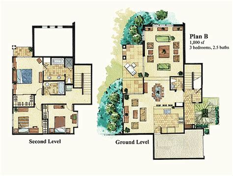Resort House Plans by Waikoloa Resort Offers Variety Of 3 Bedroom Condo