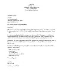 Divorce Demand Letter Exle Divorce Source Demand Letters For Child Access Visitation
