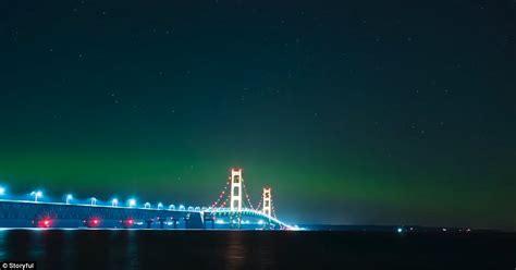 northern lights washington state northern lightsin the us paint the michigan sky green