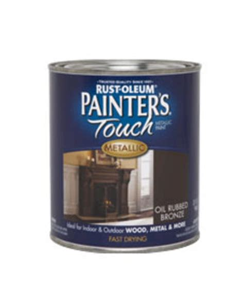 rust oleum 174 painter s touch metallic rubbed bronze paint 1 qt at menards 174