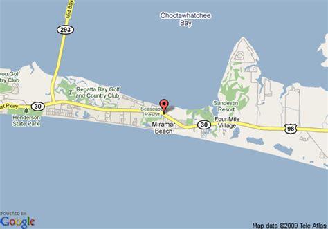 map of destin florida area map of hton inn suites destin sandestin area fl destin