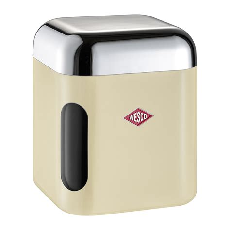 square kitchen canisters buy wesco square canister with window almond amara