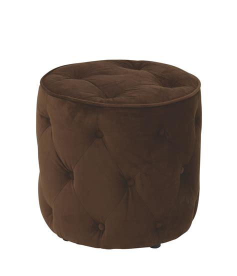 round velvet tufted ottoman curves tufted round ottoman in chocolate velvet ergoback com