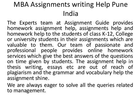 How Does An Mba Help by Mba Assignments Writing Help Pune India