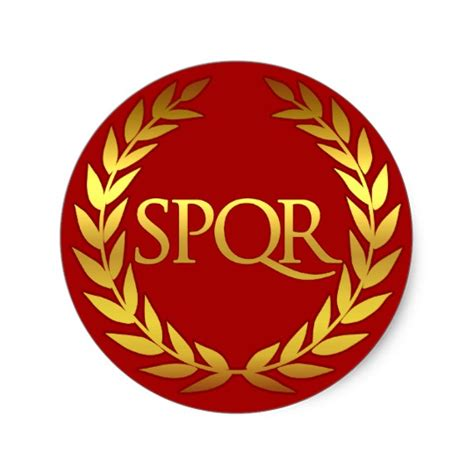 spqr roman sticker zazzle com
