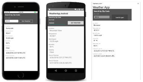 build a native android ui ios ui with xamarin forms visual studio에서 xamarin을 사용하여 네이티브 ui로 앱 빌드 microsoft docs
