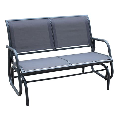 metal glider bench 2 seater metal glider bench