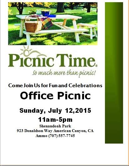 Picnic Flyer Templates Download Sourceforge Net Picnic Flyer Template Word