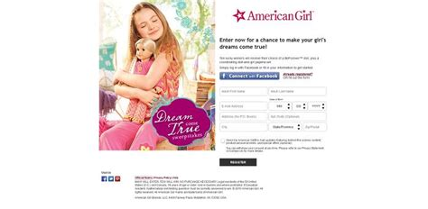 American Dream Sweepstakes - americangirl com dreamsweeps american girl dream come true sweepstakes