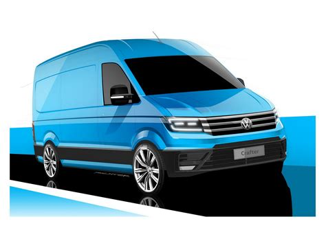 new volkswagen all new volkswagen crafter teased in official sketches