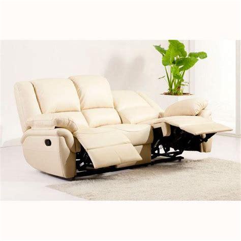 cream leather recliner sofa cream leather reclining sofa homehighlight co uk