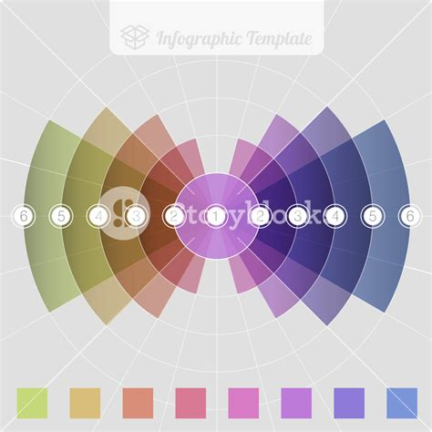 layout in vector radial infographic design vector template royalty free
