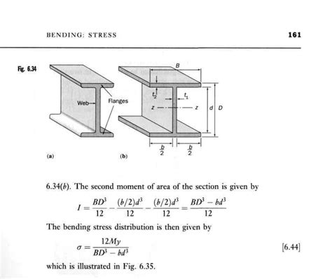 second moment of area i section solid mechanics crane project references for calculations