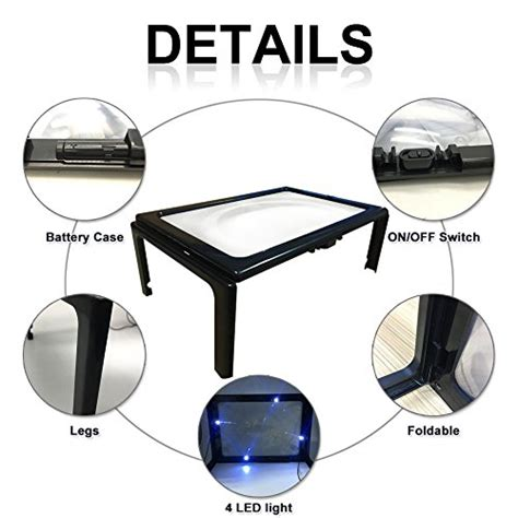 whole page magnifier with light reading magnifier 3x handheld page magnifier soled 4 led