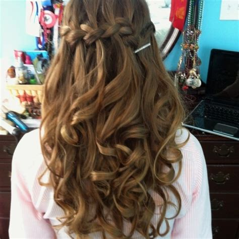 homecoming hairstyles waterfall braid 40 hairstyles for prom night with braids and curls