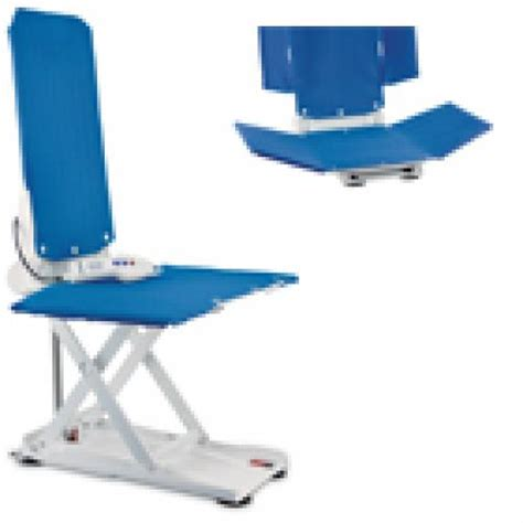 Aquatec Reclining Bath Lift by Bath Lift Aquatec J Reclining Back Wide Blue
