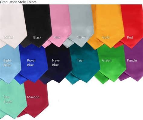 graduation colors 60 quot graduation tricot honors sash stole ebay