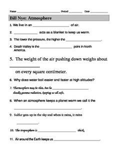 Bill Nye The Atmosphere Worksheet by 14 Best Images Of Bill Nye Sound Worksheet Bill Nye Light And Color Worksheet Answers Bill