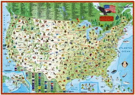 laminated map of the united states children s map of the united states laminated illustrated