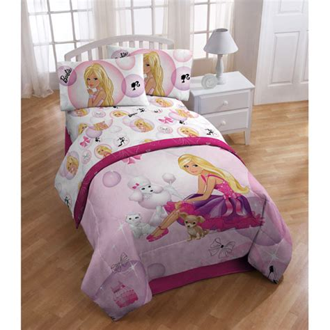 barbie bed set barbie microfiber sheet set walmart com