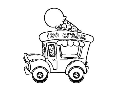 Ice Cream Truck Coloring Page | ice cream food truck coloring page coloringcrew com
