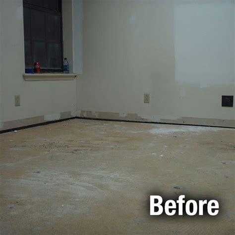 leveling concrete garage floor