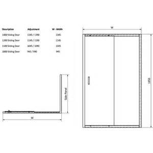 Shower Doors Sizes Cheapest 6mm Sliding Shower Door In 4 Sizes By Aquatech