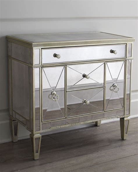 Small Mirrored Nightstand by Amelie Small Mirrored Chest In 2019 Products Mirrored