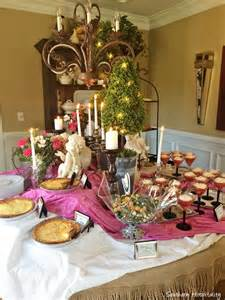 Buffet Table Risers Bridal Shower Brunch Ideas Southern Hospitality