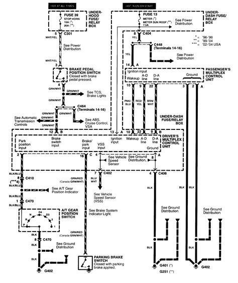 acura multiplex unit wiring diagram wiring