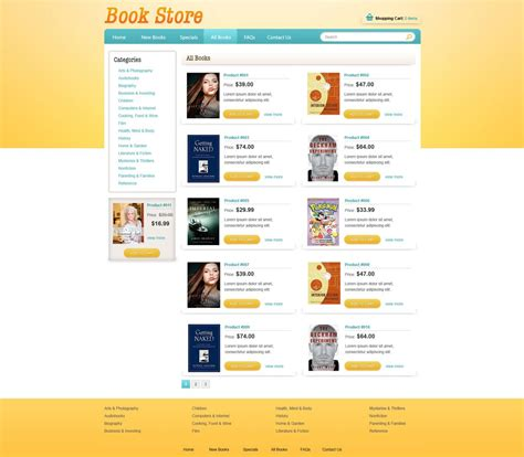 Book Online Store Template Free Ecommerce Website Templates Phpjabbers Store Templates Free