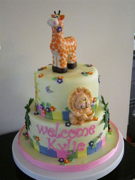 Animal Baby Shower Cakes by Zoo Animal Baby Shower Cake Cakecentral