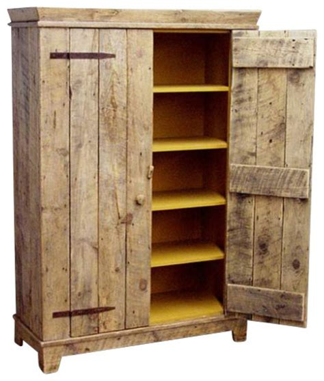 Rustic Cabinet Doors Rustic Barnwood Kitchen Cabinet Rustic Accent Chests And Cabinets By Ecofirstart