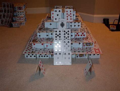 how to make a card pyramid card houses