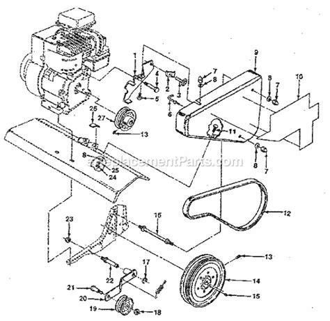 craftsman tiller parts diagram craftsman 917298242 parts list and diagram
