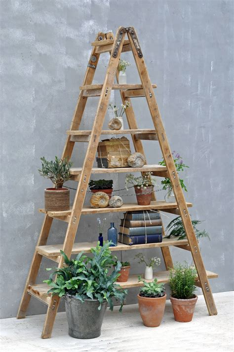 wooden ladder shelf bookcase furniture appealing collection of rustic ladder shelf