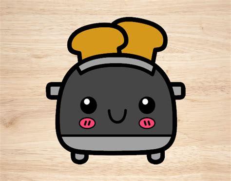 imagenes de tostadas kawaii dibujo de tostada kawaii pintado por niabelen64 en dibujos