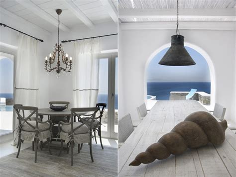 greek style home interior design villa in mykonos