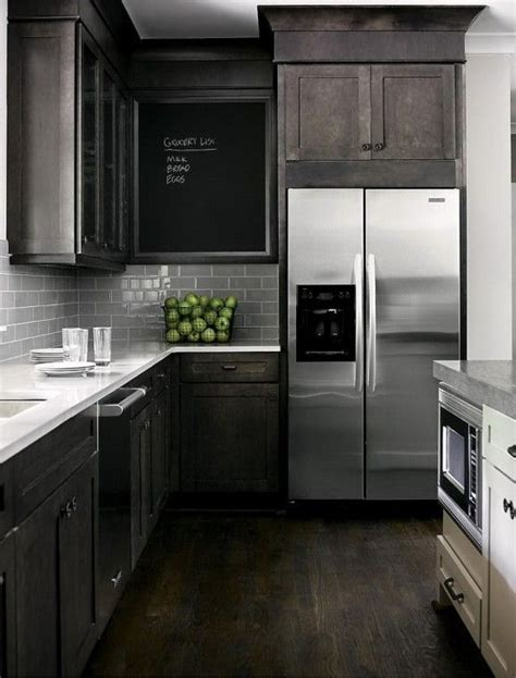 Chalkboard Kitchen Backsplash best 25 dark kitchen cabinets ideas on pinterest dark