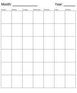 generic monthly calendar template blank generic monthly calendar calendar template 2016