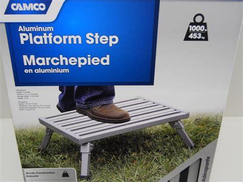 Platform Step Stool For Rv by Rv Cer Motor Home Trailer Silver Aluminum Folding
