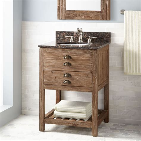 Bathroom Vanity Wood 24 Quot Benoist Reclaimed Wood Vanity For Undermount Sink Pine Bathroom Vanities Bathroom