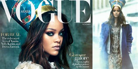 rihanna pays homage to queen nefertiti for vogue arabia rihanna poses in reptile print jacket as she pays homage