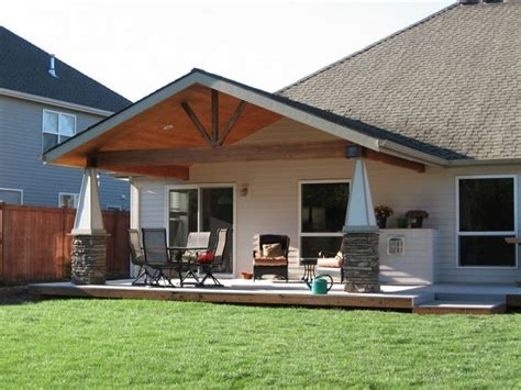 Gable Patio Designs Gable End Patio Cover Albany Oregon Http Tntbuildersinc Patio Covers Pinterest